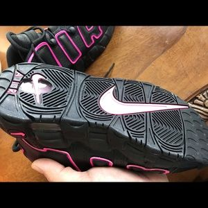 Brand new never worn Nike UpTempo black and pink